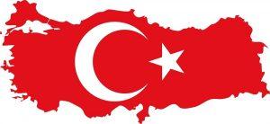 bayrakli Turkiye haritasi