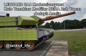 TSK Leopard 2A4 Modernizasyonu Kule NERA Zırh Yapısı